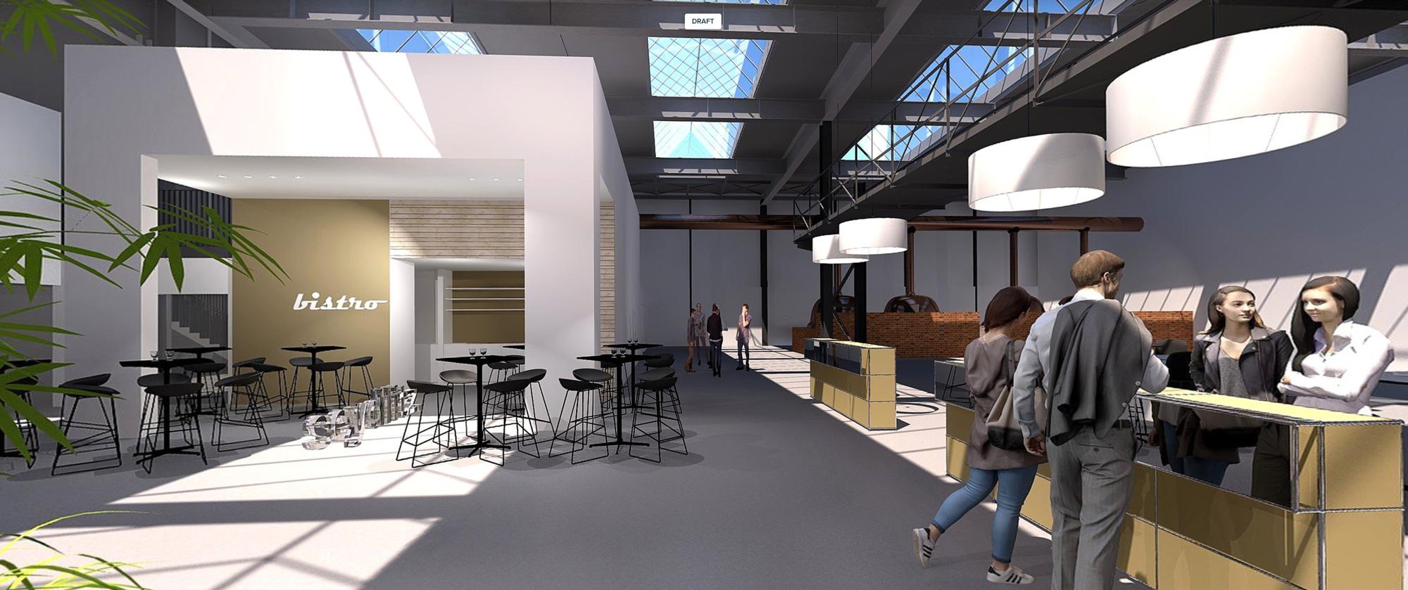 Brauerei, realisiert 2018. 360 Grad Panorama.